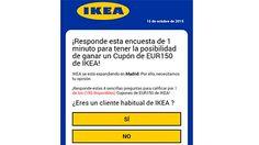 Cuidado con la última estafa en WhatsApp que se hace pasar por Ikea https://www.legalitas.com/actualidad/Descubre-las-ultimas-estafas-detectadas-en-Internet
