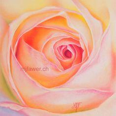 Rose aux pastels secs #fleur #rose #pastelsec #dessin #réaliste #art #couleur Pastels, Flowers, Plants, Art, Realistic Drawings, Pink Blossom, Color, Art Background, Kunst