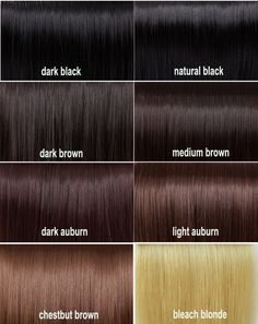 Hair Color Chart Brown - Best Hair Color for Natural Black Hair Check more at http://frenzyhairstudio.com/hair-color-chart-brown/