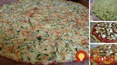 Zucchini Crust Pizza-one of my all time favorite zuchinni recipes - Rezepte Recipe Zuchinni Pizza Crust, Zucchini Pizzas, Cauliflower Crust Pizza, Low Carb Zuchinni Recipes, Zuchinni Desserts, Zuchinni Pasta, Zucchini Cheese, Cauliflower Salad, Flatbread Pizza
