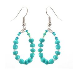 Trio of Hope Hoop Earring - Turquoise - Lucias Imports
