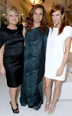 Amy Poehler, Maya Rudolph and Kristen Wiig reunite to honor their Saturday Night Live boss Lorne Michaels.