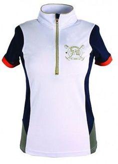 New Horseware Ireland Newmarket Emmy Technical Polo Navy/Khaki Large