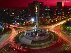 Mexico City - Mexico.  El Angel de la Independencia. Independence angel.