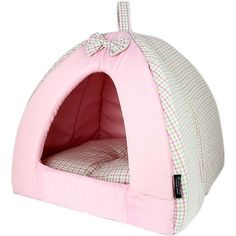 Pet Dog House PINKBERRY PLAID