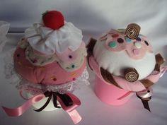 Cupcakes+De+Feltro+Para+Decoração++cakepins.com