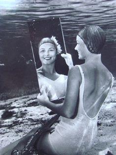 mirror, fotografia photograph, underwater photography, bruce mozert, underwat photographi, photographi bw