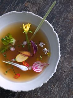 Enjoy a broth or soup before meals! This will decrease your overall consumption at meal times