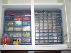 Great way to store your buttons and flowers!