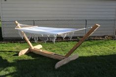 The Simple and Elegant Hammock Stand : 3 Steps (with Pictures) - Instructables Backyard Projects, Diy Wood Projects, Outdoor Projects, Backyard Patio, Outdoor Decor, Outdoor Ideas, Backyard Ideas, Outdoor Furniture, Diy Hammock