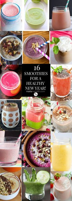 16 Smoothies for a Healthy New Year! MarlaMeridith.com ( @marlameridith ) #recipes