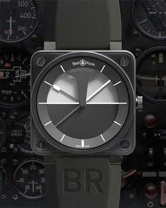 Bell & Ross 01 Horizon:  inspired by aeronautical instrumentation