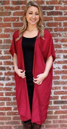 Kimono Cardigan | Crimson, Purple, Maroon, Navy, Black