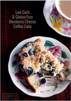 Keto Discover Low Carb Blueberry Cheese Danish Coffee Cake - IBIH This low carb & gluten free blueberry cheese danish coffee cake has four amazing layers! Keto and Atkins diet friendly! Low Carb Bread, Low Carb Keto, Low Carb Recipes, Blackberry Recipes Low Carb, Blueberry Recipes, Low Carb Deserts, Low Carb Sweets, Stevia, Lchf