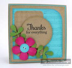 card MFT Blueprints 14 Fall Foliage, Sheet Music Background, Blueprints 14 Die-namics, Stitched Circle STAX Die-namics - Julie Dinn #mftstamps