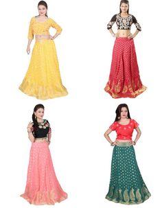 Huge #collection of #upada #silk #lehenga with crepe #floral embroidered #choli online at sairandhri.com #indiandesignerlehengasareesonline