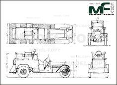 American LaFrance Fire Truck '1922 - drawing