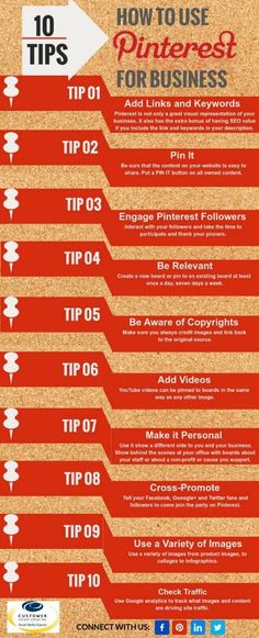 Pinterest for Business Infographic - No matter who your target audience is, use these 18 top Pinterest for business marketing tips to improve your bottom line.