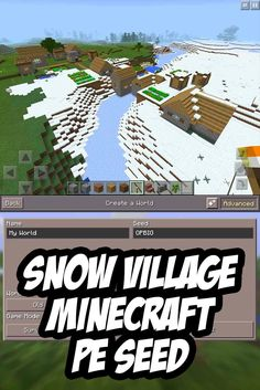 Spawn By A Snow Village In This Minecraft PE Seed:OPBIG