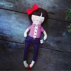Opal18 cloth doll rag doll customizable red by piggyhatespanda