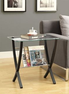Cappuccino Bentwood Magazine Table With Tempered Glass *** Details can be found by clicking on the image. (Amazon affiliate link)