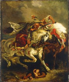 Eugène Delacroix. Combat of the Giaour and Hassan, 1835. Oil on canvas, cm. 73.7 x 61. Petit Palais, Musée des Beaux-Arts of the City of Paris - © Roger-Viollet / REX