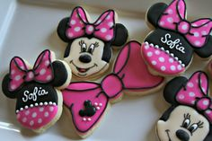 Minnie Mouse Cookies-Minnie Mouse Birthday Cookies Minnie