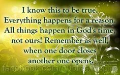 when one door closes another door opens | BlessOurHearts: Another Door Opens