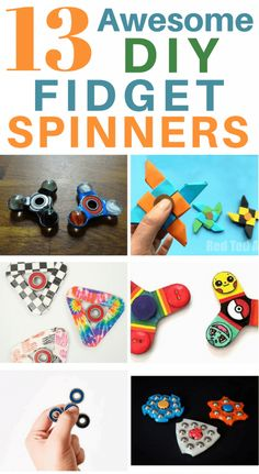 13 DIY Fidget Spinner, DIY and Crafts, 13 DIY Fidget Spinners. Here are 13 of the very BEST DIY fidget spinner toys. I can& wait to try making these with my kids this summer. Home Made Fidget Spinner, Fidget Spinner Craft, Cool Fidget Spinners, Figet Toys, Diy Toys, Craft Stick Crafts, Diy Crafts For Kids, Craft Ideas, Pokemon Go