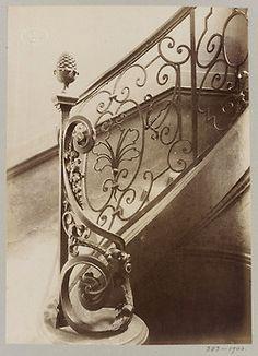 Eugène Atget, Staircases in Paris, c.1900.