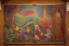Waldorf First grade : lantern  walk drawing