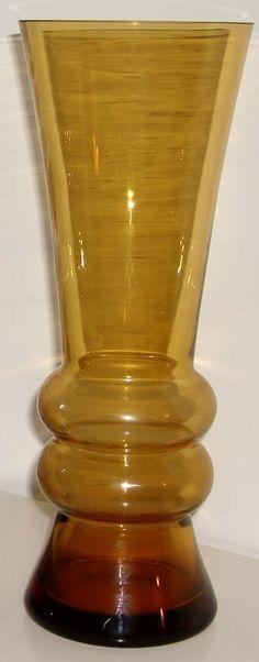 Riihimaki style glass vase