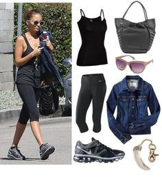 "@fitsugar's ""Get The Look: Nicole Richie's Basic Black Workout Wear"" features the @Icebreaker Everyday Wool Cami"