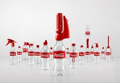 Interesting idea for re-using coke bottles..different lids for different uses, such as pepper grinder, bubble maker...