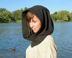 Hey, I found this really awesome Etsy listing at https://www.etsy.com/listing/249765488/hooded-cowl-scarf-wrap