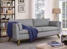 TOV Furniture Sussex Light Grey Sofa