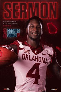 Running back Trey Sermon Semi Pro Football, College Football Players, Ou Football, Football Hall Of Fame, Football Season, Collage Football, Oklahoma Sooners Football, World Series 2017, Boomer Sooner