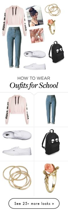 """Lazy"" by gretchenroseedwards on Polyvore featuring Vans, ABS by Allen Schwartz and Vintage"