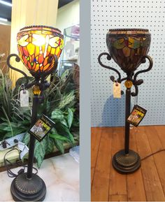 """""""Tomorrow's Heirloom..Today!"""" Inspired by the original antique stained glass lamp shades by Louis Comfort Tiffany, this lamp is designed exclusively by designer Sergio Orozco for Dale Tiffany's """"Antiques Roadshow Collection"""" and produced using the same copper foil technique as the originals.  Find this one near the front of our store at the Antique Gallery of Lewisville, Tx.  #futureantique #reproduction #stainedglass #tiffanys #daletiffany #louiscomforttiffany #artnouveau #lamp #onsale…"""
