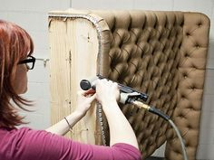 DIY Upholstered Diamond Tufted Headboard : Home Improvement : DIY Network