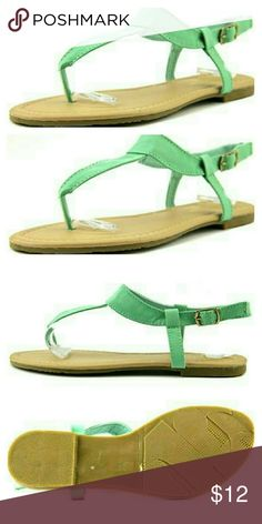 "Ladies sandals New with box / COLOR: Teal / MATERIAL: Synthetic / MEASUREMENTS: 0.25"" heel / WIDTH: Medium (B, M)   The Yoki Sheila-05 Sandals feature a Synthetic upper with a Open Toe . The Man-Made outsole lends lasting traction and wear. Yoki Shoes Sandals"