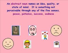 Image result for abstract nouns