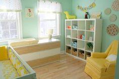 Gender Neutral Nurseries--love the yellow armchair