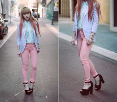 Pastels (by Willabelle Ong) http://lookbook.nu/look/3934122-Pastels