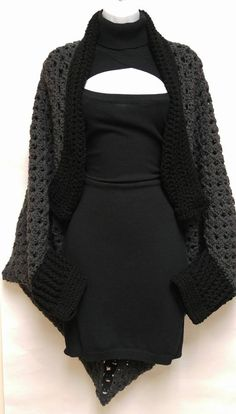 Gorgeous Granny Square Cocoon Shrug (click to see the how-to video)