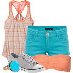 Coral and Aqua Summer
