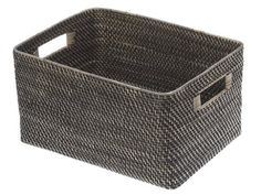 I bought two of these large baskets used on amazon for under $30 each. I placed them on the lower shelf of my bedroom night tables where they store spare bedsheets. KOUBOO Rectangular Rattan Storage Basket