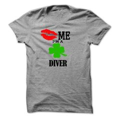 kiss me i am a DIVER - #geek hoodie #sweatshirt men. OBTAIN LOWEST PRICE => https://www.sunfrog.com/LifeStyle/kiss-me-i-am-a-DIVER.html?68278