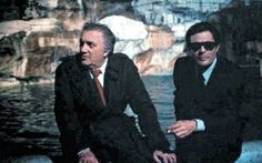 Marcello Mastroianni et Federico Fellini Marcello Mastroianni, Divas, Italian Pronunciation, Dario Argento, Grand Cross, Cartoon Tv Shows, Cinema Film, Sight & Sound, Great Films