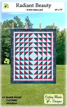 Radiant Beauty By Laird, Cathey  - Radiant Beauty gives the illusion of a radiating three dimensional quilt. It is made with the easy-to-use, multi-function Y Block Ruler by Cathey Marie Designs.